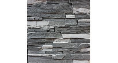 Искусственный камень Балтфасад Корунд темно-серый 500×100, 300×100 мм, фото номер 1