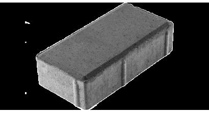 Тротуарная плитка ЦЕМСИС Брусчатка 7П.6 серый, 200*100*60 мм, фото номер 1