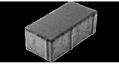 Тротуарная плитка ЦЕМСИС Брусчатка 7П.8 серый, 200*100*80 мм, фото номер 1