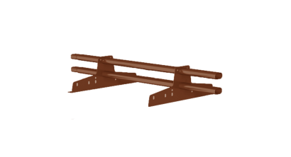 Комплект трубчатого снегозадержания BORGE 1 м для металлочерепицы, профнастила и битумной кровли, коричнево-красный, фото номер 1