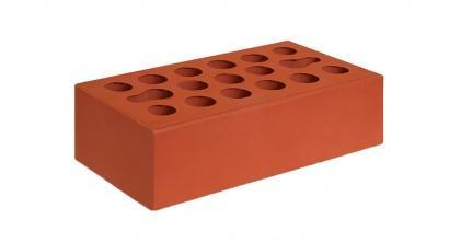Кирпич керамический облицовочный пустотелый Керма Красный гладкий 250*120*65 мм, фото номер 1