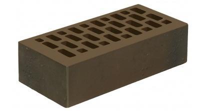 Кирпич керамический облицовочный пустотелый Голицынский КЗ Венге темно-коричневый флэшинг гладкий 250*120*65 мм, фото номер 1
