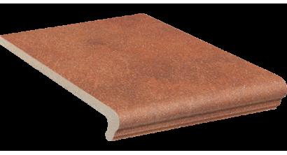 Клинкерная ступень флорентинер Stroeher Keraplatte Roccia 841 rosso, 340x294x12 мм, фото номер 1