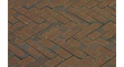 Клинкерная тротуарная брусчатка ручной формовки Penter Oliva wasserstrich 200х50х85 мм, фото номер 1