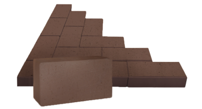Брусчатка тротуарная клинкерная ЛСР Мюнхен коричневая, 200*100*50 мм, фото номер 1