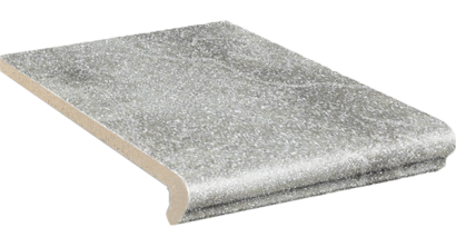 Клинкерная ступень флорентинер Stroeher Keraplatte Roccia 840 grigio, 340x294x12 мм, фото номер 1