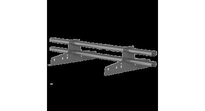 Комплект трубчатого снегозадержания BORGE 1 м для металлочерепицы, профнастила и битумной кровли, графитово-серый, фото номер 1