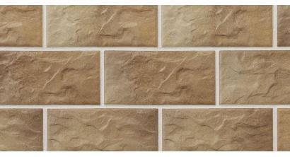 Цокольная плитка клинкерная Stroher Kerabig KS 14 braun-bunt рельефная, 302*148*12 мм, фото номер 1