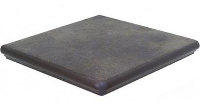Клинкерная угловая ступень Interbau Nature Art 118 Lava schwarz, 320x320x9,5 мм, фото номер 1