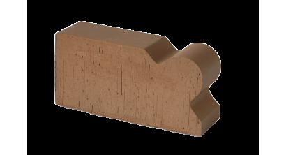 Кирпич керамический облицовочный фигурный полнотелый Lode Brunis F20 гладкий 250*120*65 мм, фото номер 1