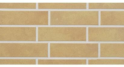 Фасадная плитка клинкерная Stroher Keravette Shine 834 giallo рельефная NF8, 240*71*8 мм, фото номер 1