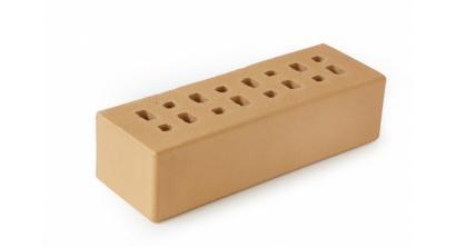 Кирпич клинкерный облицовочный пустотелый ЛСР Марсель кремовый гладкий 250*85*65 мм, фото номер 1