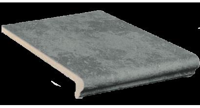 Клинкерная ступень флорентинер Stroeher Keraplatte Roccia 845 nero, 340x294x12 мм, фото номер 1