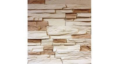 Искусственный камень Балтфасад Корунд светло-бежевый 500×100, 300×100 мм, фото номер 1