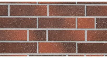 Фасадная плитка клинкерная ABC Rotbunt рельефная NF8, 240*71*8 мм, фото номер 1