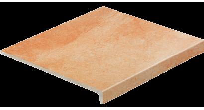 Клинкерная ступень прямоугольная Stroeher Keraplatte Roccia X 927 rosenglut, 294х340х35х11 мм, фото номер 1