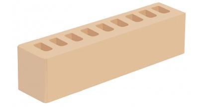 Кирпич керамический облицовочный пустотелый Голицынский КЗ Слоновая кость гладкий 250*60*65 мм, фото номер 1