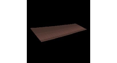 Ребристый желобок для обустройства ендовы LUXARD 1,6 м, коричневый, фото номер 1