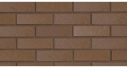 Фасадная плитка клинкерная Roben Braun genarbt рельефная NF9, 240*9*71 мм, фото номер 1