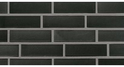Фасадная плитка клинкерная Roben Faro Schwarz nuanciert гладкая NF9, 240*9*71 мм, фото номер 1