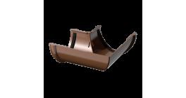 Угол желоба ТехноНИКОЛЬ (Verat) коричневый 90 град., D 125 мм фото
