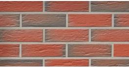 Фасадная плитка клинкерная Roben Rhoen Bunt genarbt рельефная NF9, 240*9*71 мм фото