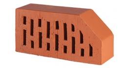 Кирпич керамический облицовочный радиусный пустотелый Lode Janka F6 гладкий 250*120*65 мм фото