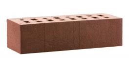 Кирпич клинкерный облицовочный пустотелый ЛСР Порту темно-красный с бордовым песком винтаж 250*85*65 мм фото