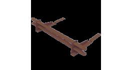 Комплект трубчатого снегозадержания BORGE 1 м для композитной черепицы, шоколадно-коричневый фото