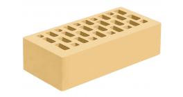 Кирпич керамический облицовочный пустотелый Голицынский КЗ Соломенный гладкий 250*120*65 мм фото