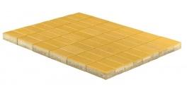 Тротуарная плитка BRAER Прямоугольник Желтый, 200*100*60 мм фото