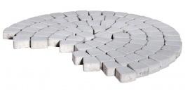 Тротуарная плитка BRAER Классико круговая Серебристый, 73*110*115*60 мм фото
