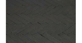 Клинкерная тротуарная брусчатка ручной формовки Penter Nero wasserstrich tumbledt, 200х50х85 мм фото