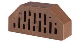 Кирпич керамический облицовочный фигурный пустотелый Lode Brunis F7 гладкий 250*120*65 мм фото