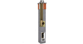 Комплект дымохода SCHIEDEL UNI одноходовой без вентканала 4 п.м, 32*32 см, D 14 см фото