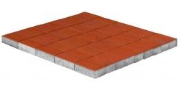 Тротуарная плитка BRAER Прямоугольник Красный, 200*100*60 мм фото