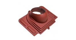 Проходной элемент VILPE PELTI для металлической кровли, красный фото