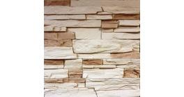Искусственный камень Балтфасад Корунд светло-бежевый 500×100, 300×100 мм фото