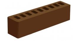 Кирпич керамический облицовочный пустотелый Голицынский КЗ Коричневый гладкий 250*60*65 мм фото