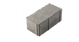Тротуарная плитка ВЫБОР Брусчатка 7П.8 серый, 200*100*80 мм фото