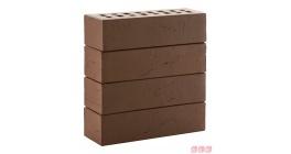 Кирпич клинкерный облицовочный пустотелый ЛСР Кельн коричневый винтаж 250*85*65 мм фото