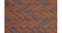 Клинкерная тротуарная брусчатка ручной формовки Penter Rosa wasserstrich 200х50х85 мм фото
