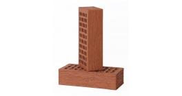 Кирпич керамический облицовочный пустотелый Вышневолоцкая керамика красный лава, 250*120*65 мм фото