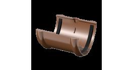 Соединитель желоба ТехноНИКОЛЬ (Verat) коричневый, D 125 мм фото