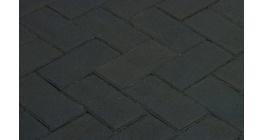 Клинкерная тротуарная брусчатка ручной формовки Penter Nero, 200х100х80 мм фото