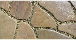 Песчаник бежево-коричневый с разводами галтованный, 30-40 мм фото