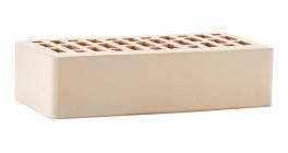 Кирпич керамический облицовочный пустотелый ЛСР белый гладкий 250*120*65 мм фото