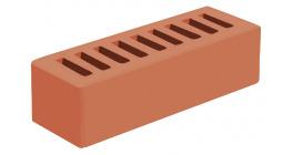 Кирпич керамический облицовочный пустотелый Голицынский КЗ Красный гладкий 250*85*65 мм фото