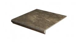 Клинкерная флорентийская ступень Interbau Abell 272 Орехово-коричневый 310x320 мм фото