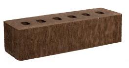 Кирпич клинкерный облицовочный пустотелый Kerma Premium Klinker Коричневый бархат 0.5NF 250×60×65 фото
